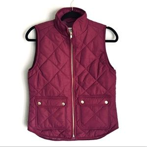 JCREW Factory quilted fall vest Size XS